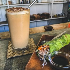 Lokal | Iced Coffee and Nutty Veggie