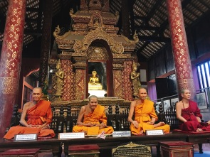 Wax replicas of the monks