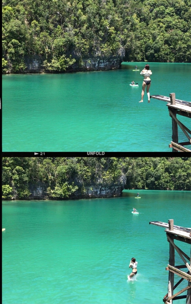 Cliffdiving at the Sugba Lagoon