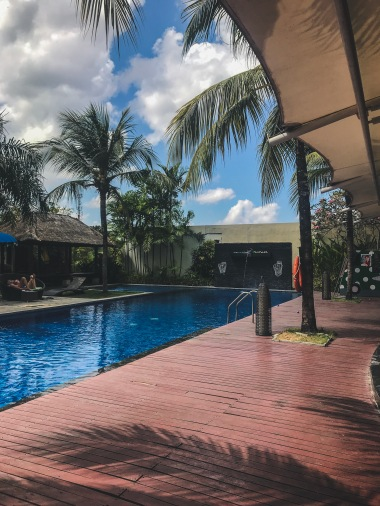 Swimming Pool open for all guests with resto beside it