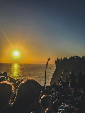 Literally over the Uluwatu Cliff towards sunsets